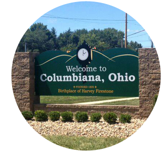 Welcome To Columbiana, Ohio Sign